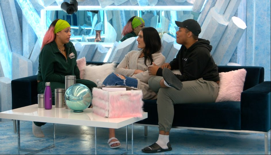Making plans on how to recover from Julie's eviction and pot stirring. They think that LaToya was the one who pushed hard to flip the vote on Julie. Victoria asks if Austin would consider targeting LaToya but Austin says the guys would keep her. #BBCAN9