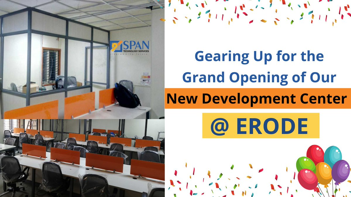 Spreading Our Third Wing! We are pleased to inform you that we are opening our third branch today at #Erode. Thank you for all your support, it means the world to us. . #Newbranch #SPANTechnologyServices #spantechnologies #Inauguration2021 #Newstart
