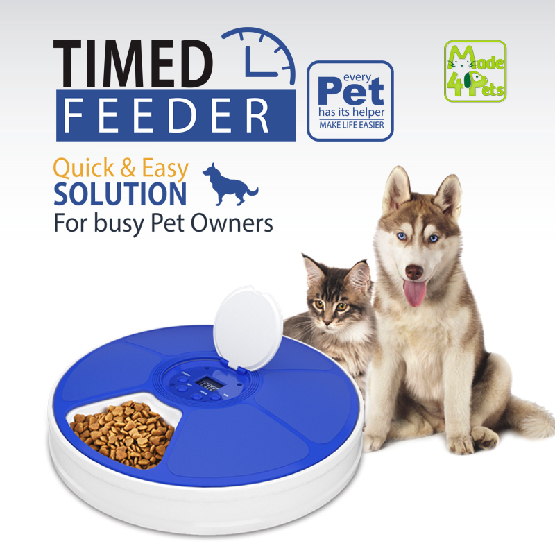 We have to satisfy pets' wants & needs for food & water, so why not try this smart timed automatic pet feeder?😃 #pets #dogs #cats #petsupplies #dogsoftwitter #CatsOfTwitter #Made4Pets