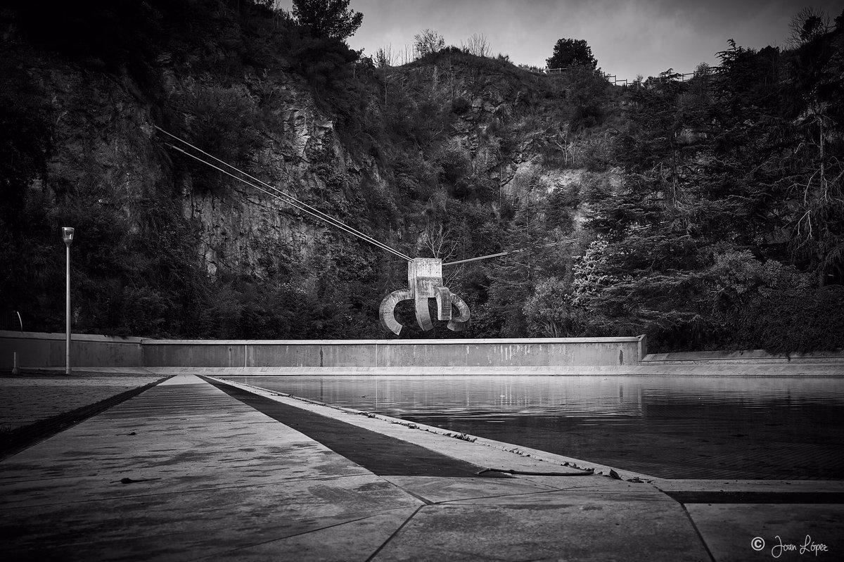 "Chillida's ""Praise of Water"" - Eduardo Chillida, ""Elogi de l'aigua"" #Barcelona #photography #streetphotography #blackandwhitephotography #blackandwhite #art #sculpture #Chillida #EduardoChillida"