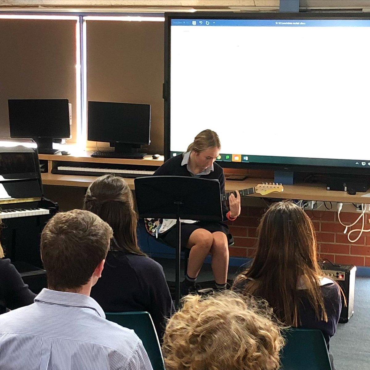 This week we had our first in a Lunchtime Recital series that gives Year 12 music students a chance to perform in front of an audience.   Students and staff are invited to attend and bring their lunch for a great show!
