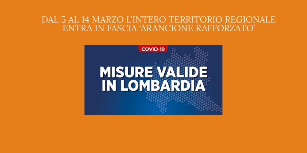 🟠😷 #Lombardia in #zonarancionerafforzata: misure restrittive per il contenimento del contagio da #Covid19  📍 scarica l'autocertificazione  ℹ️ tutte le info per i tuoi spostamenti 👉'  #Luceverde