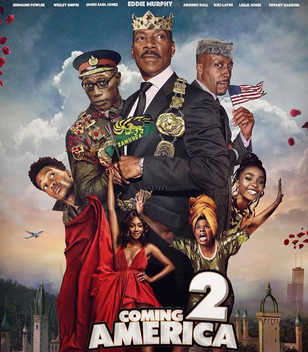 So excited for #ComingToAmerica2 !!! The wardrobe is absolutely gorgeous 😍 😍😍