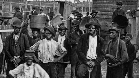 THE #ENSLAVEMENT OF #BLACKPEOPLE BY #AMERICA