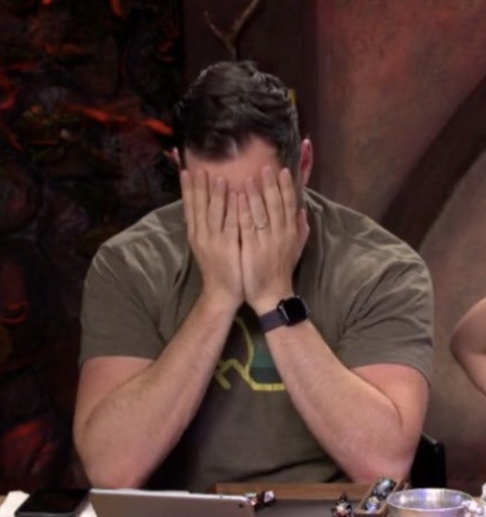 I swear, ever since I started watching live my stress levels have gone through the fucking roof #CriticalRoleSpoilers