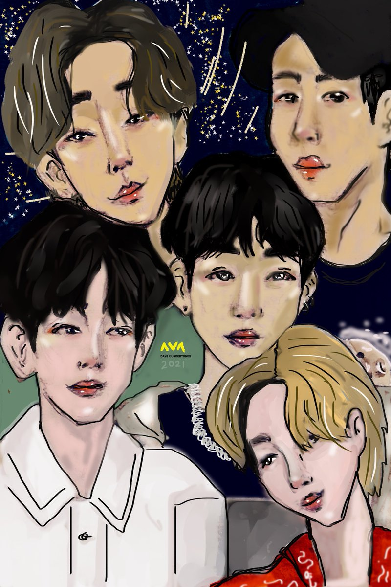 RT @avagooddaysix: Day6. What a wonderful word, [I] can't explain…  #DAY6 #DAY6XUNDERTONES #day6fanart https://t.co/S670eGnXEW