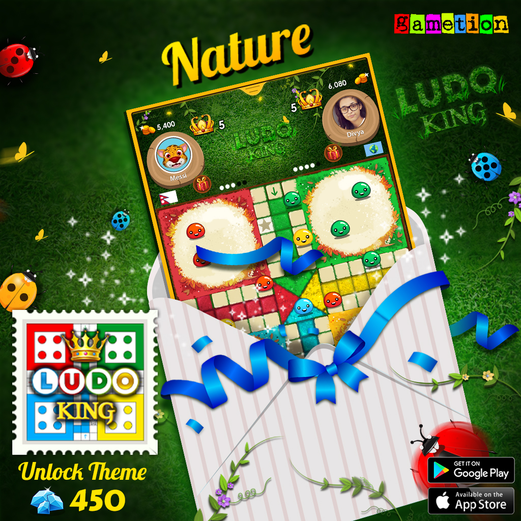 Experience the soothing greenery☘️, chirps of birds 🐦, and the cool breezes of fresh air!  Unlock the #NatureTheme 🐞 Now!  #LudoKing Available on:  Android:  IOS:   #Ludo #LudoKingGame #LudoKingFans #boardgames  #Themes