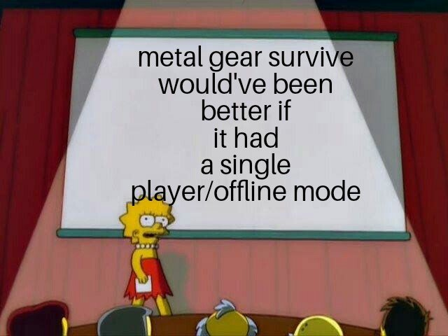 @Konami plz release a offline mode for metal gear survive so I can play while I'm out of town https://t.co/sJoTEQ4VwI