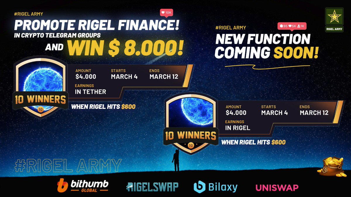 I will send one random person $100 in the next 24hrs all you have to do is RT and be following myself and @RigelFinance   Check out their huge giveaway they are currently running also 💥   Goodluck beautiful people 💞