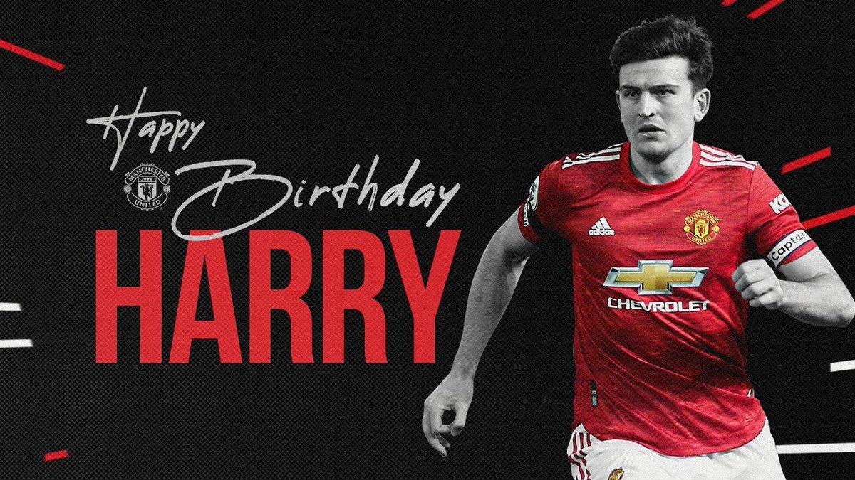 Happy birthday to @HarryMaguire93! 🎂  #MUFC