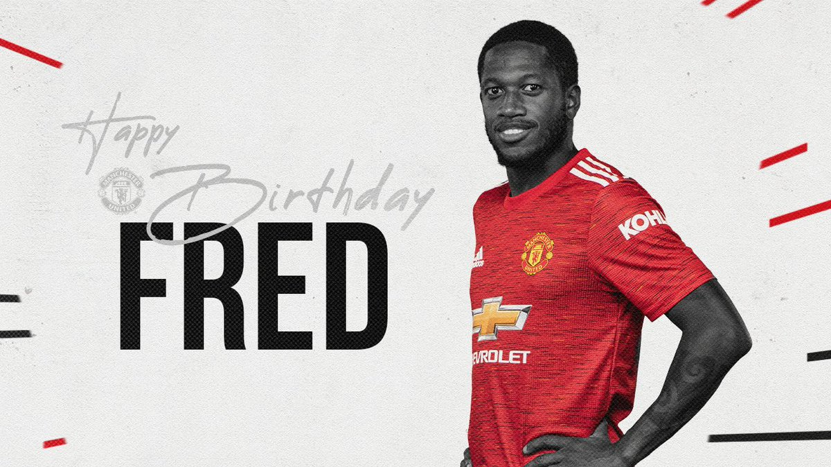 We're also wishing @Fred08oficiala very happy 28th birthday! 🥳  #MUFC