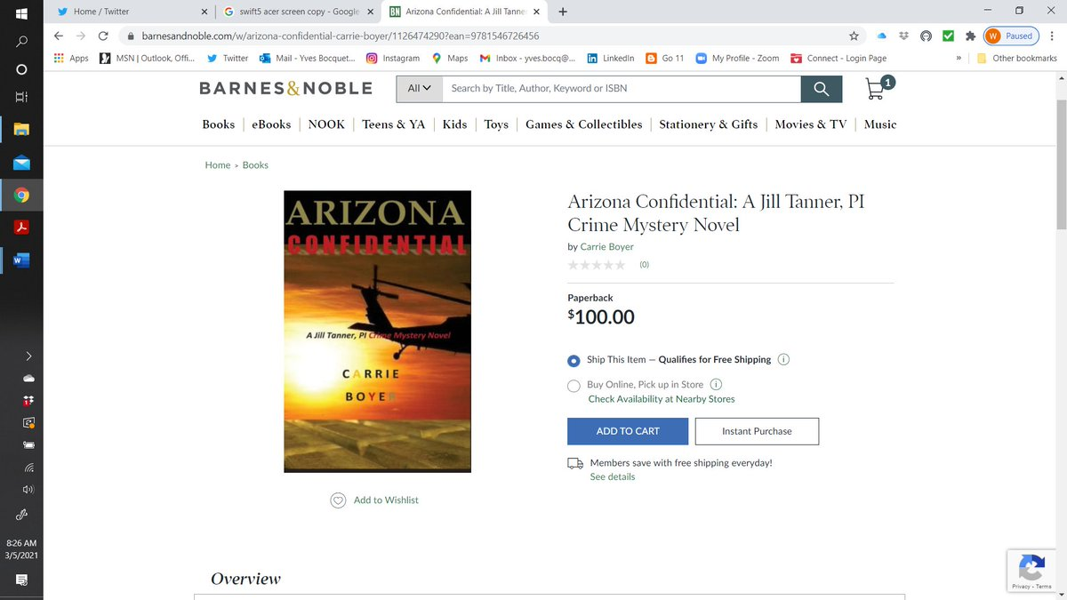You know you have made it as a writer when you can sell your paperback version at this price.  #WritingCommunity #Writer #writing
