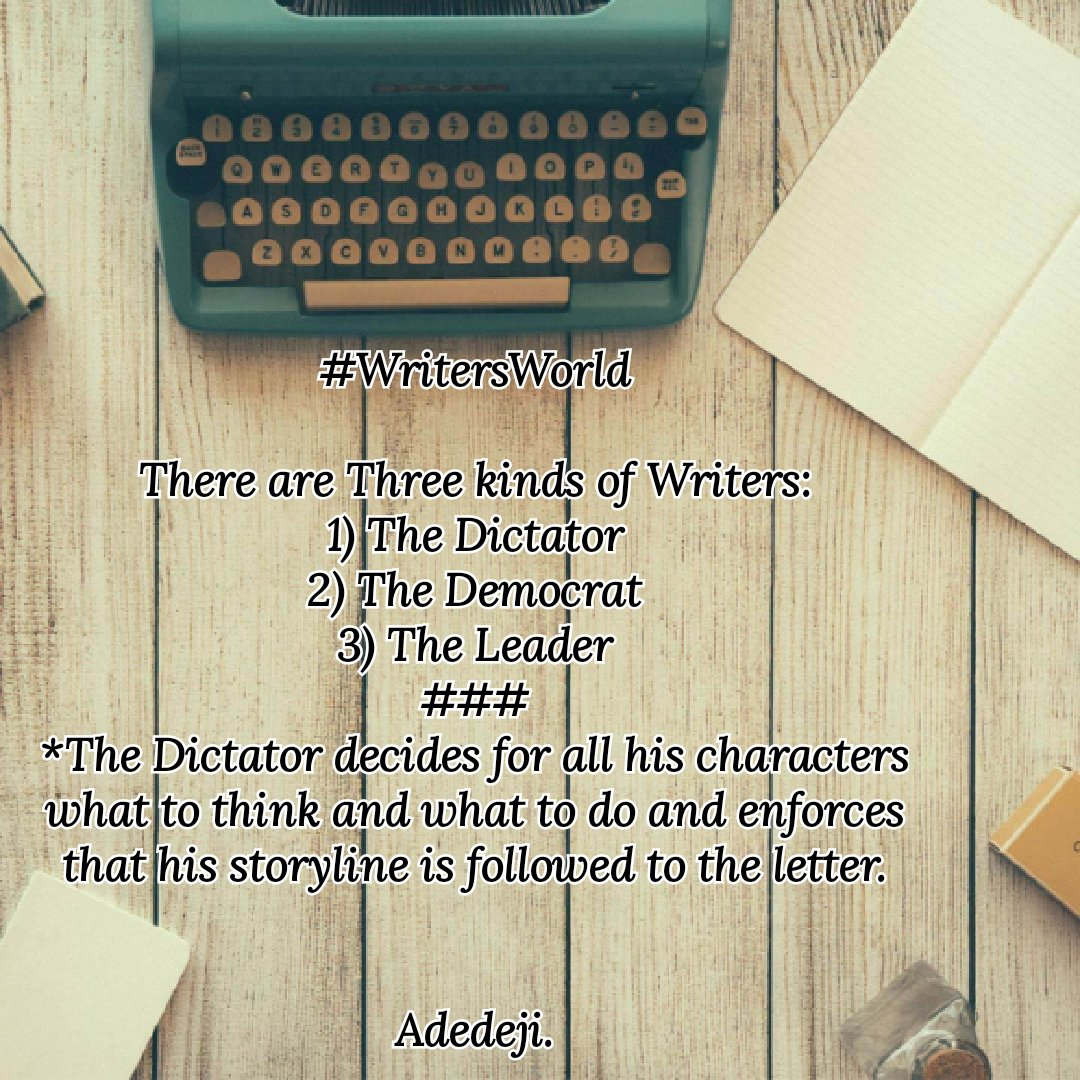 #WritingCommunity  #WorldBookDay   What kinda writer are you? @AleksCham  RT to ask other writers on your list...😀 Me: Leader Writer😎