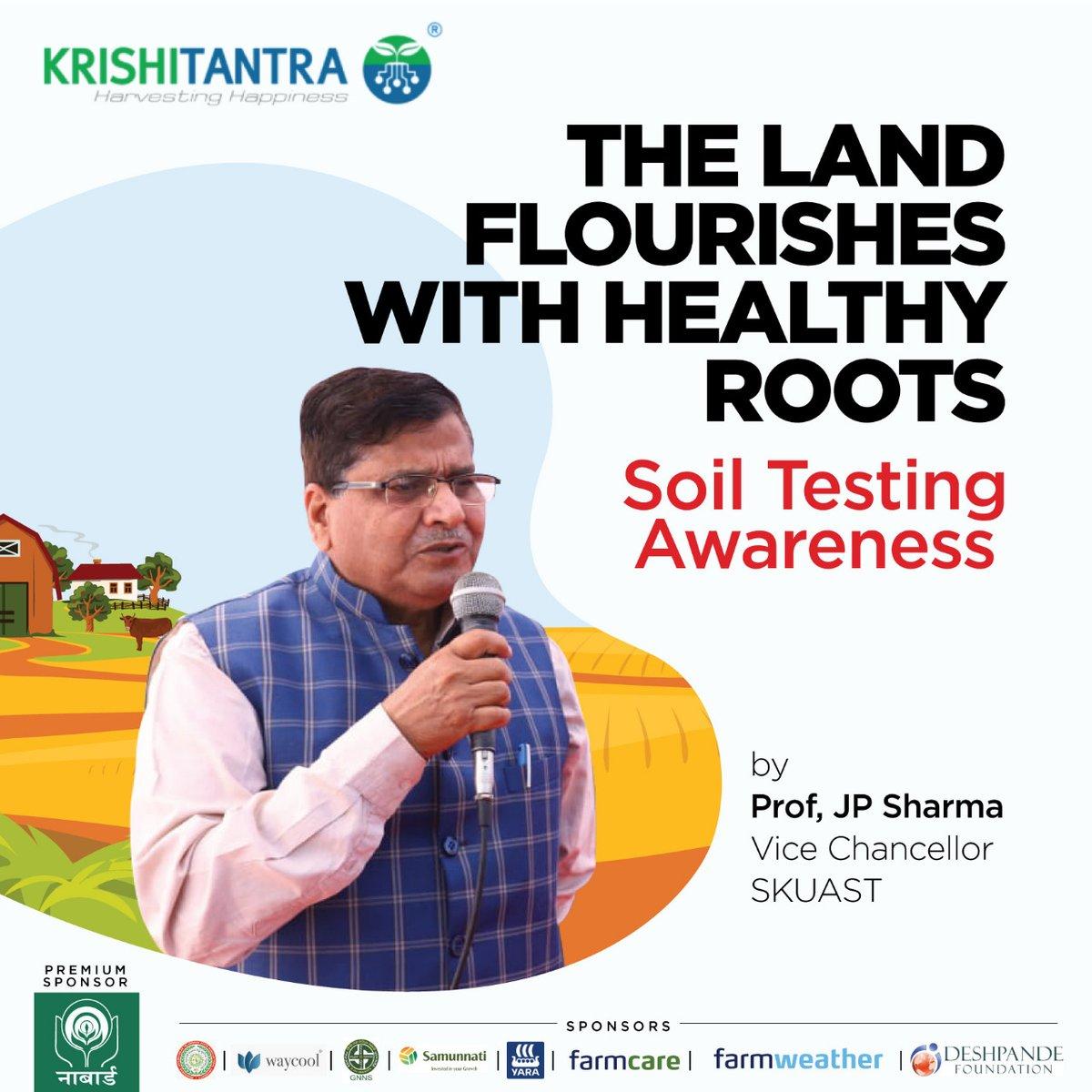 Krishitantra had the honor of hosting Professor JP Sharma, Vice-Chancellor SKUAST to spread awareness on soil testing  to support farmers. To know more, visit  #soiltestingawareness #soiltesting #awarenesscampaign #farmers #greenindia #FarmersFirst