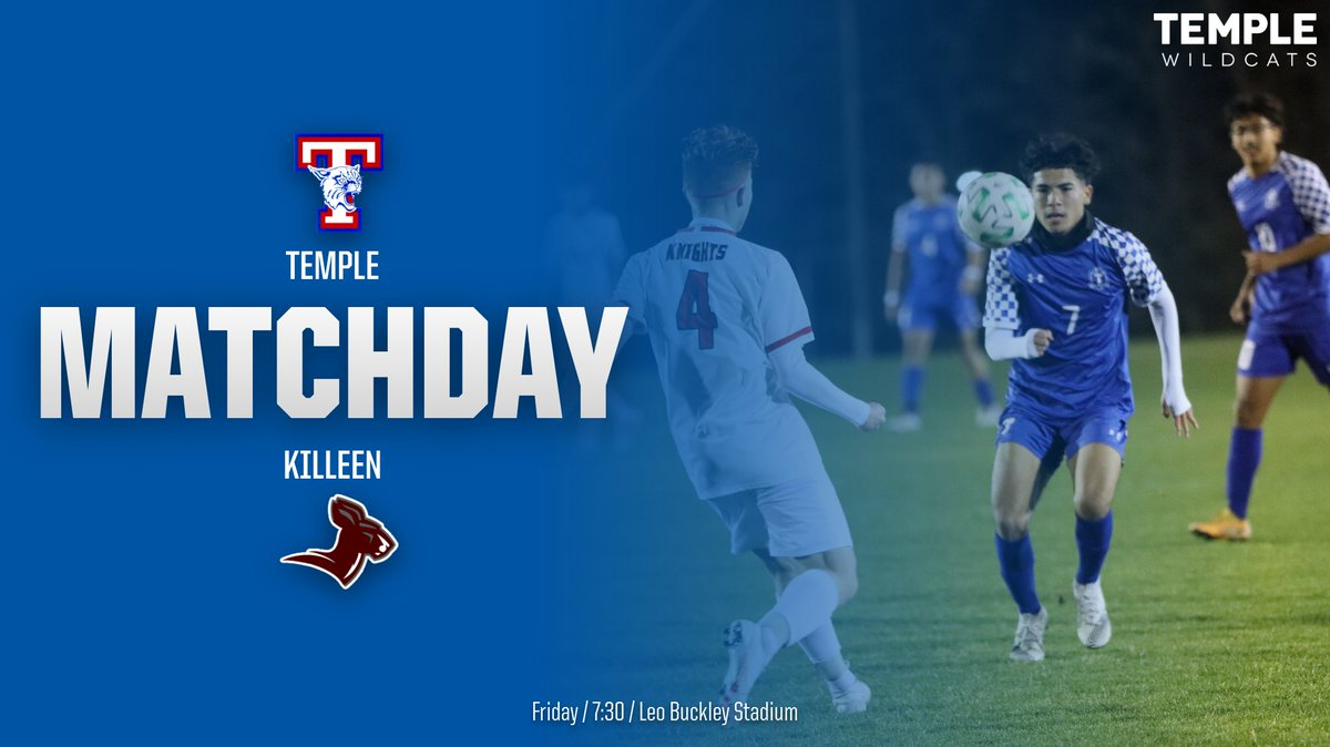 Good Luck to the Wildcat Soccer team as they travel to Killeen to take on the Kangaroos. Temple victory secures state playoff berth.