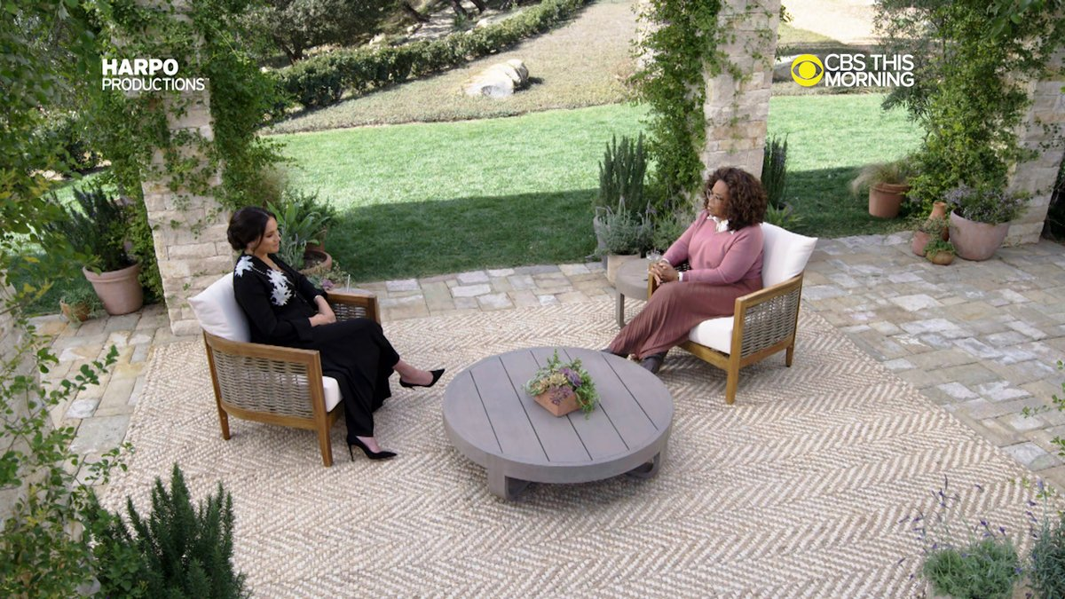 #EXCLUSIVE: In this extended first clip from @Oprah's interview with Prince Harry and Meghan, The Duchess of Sussex says what it means to be able to speak for herself.  It comes one year after the couple left England and stepped back from full-time royal life.  #OprahMeghanHarry