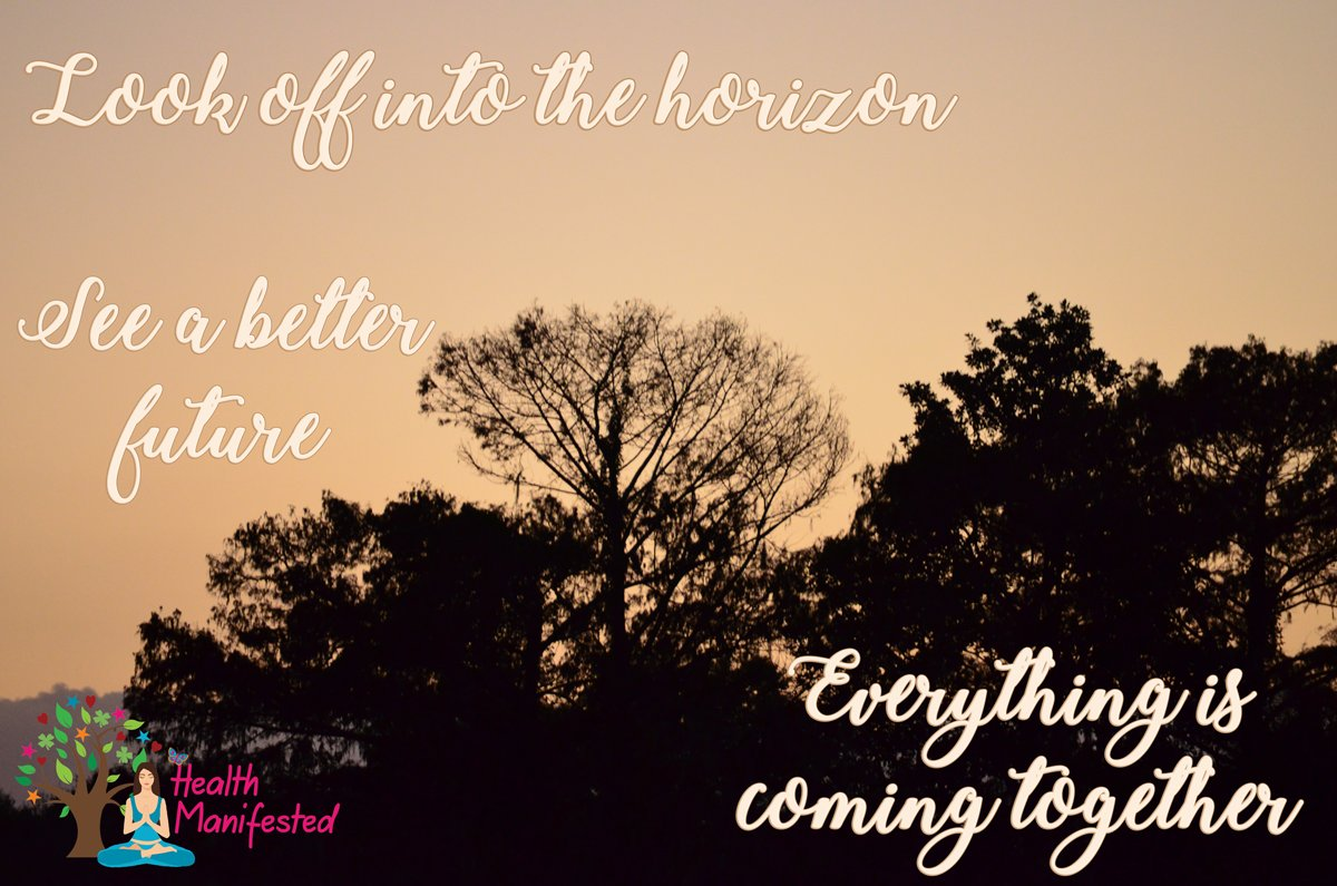 Look off into the horizon.  See a better future.  Everything is coming together.  @Health_Manifest #success #inspiration #motivation #believe #life #dream #hope #mindfulness #horizon #future  #sky #sunset #beautiful #sunrise #sun #view #pretty #gorgeous #goals #dreams #hope