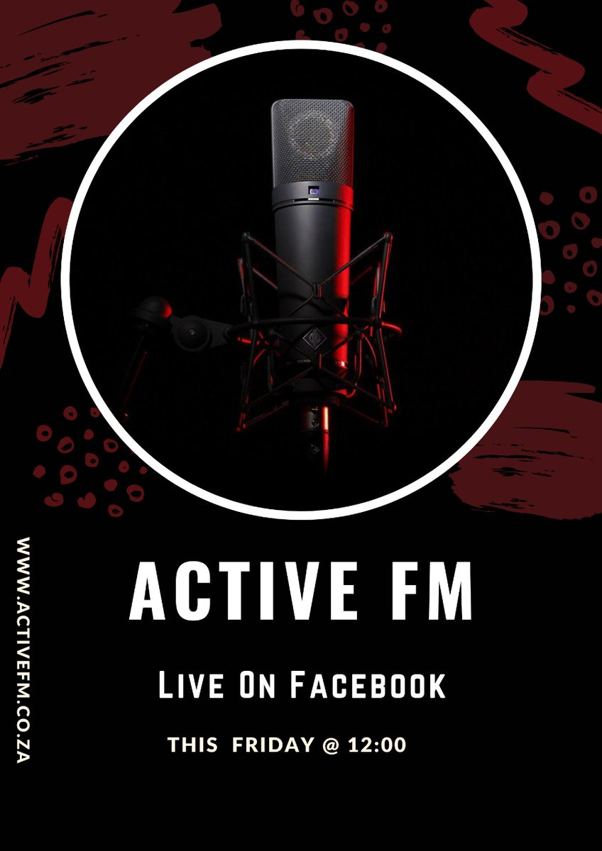 Don't miss live at 12pm today on Facebook @ACTIVEFM  #bellashmurda #CFC #COYS #DoyoungYouAreLoved #FridayMotivation #fridaymorning #HeyJustin #InternationalWomensDay #JKT48ThankYouForTheMemories #ManCity #OleOut #RHOA #SoreRemix #ScaryHours #TheChallenge36 #UFC259 #vaccination