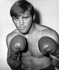 """A photo of """"Irish"""" Jerry Quarry, """"The Bellflower Bomber,"""" long-time contender who rumbled with tough battlers like Joe Frazier, Ron Lyle, Earnie Shavers, Muhammad Ali, Floyd Patterson, George Chuvalo, Mac Foster, Ken Norton and Jimmy Ellis. #Heavyweight #History #Boxing #Legend"""