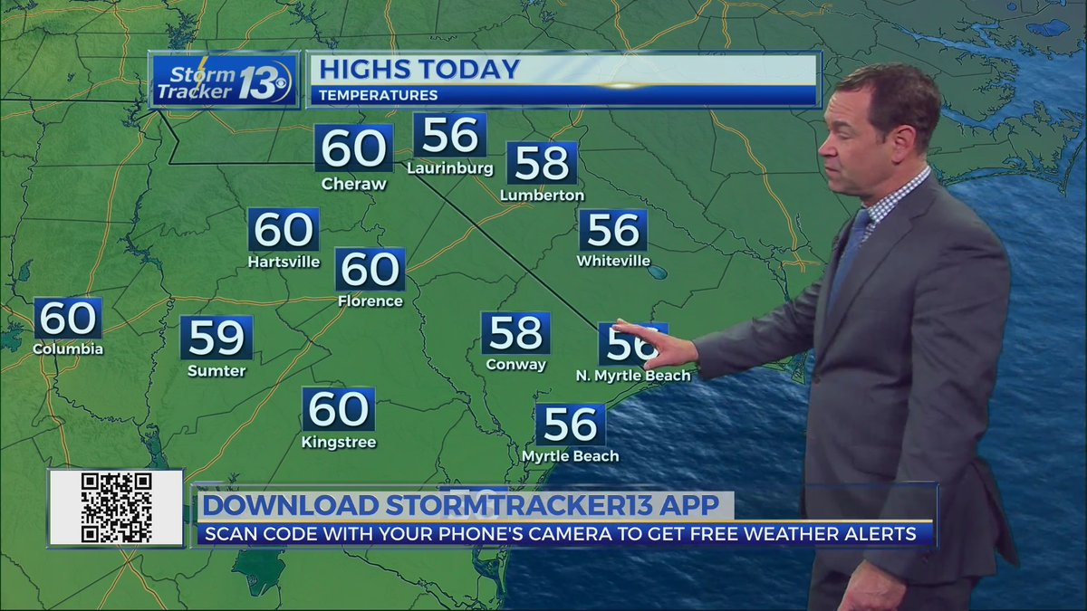 Sunshine returns today but it comes with cooler temperatures. Even cooler this weekend as we remain dry. Here's your full forecast: -->  #Weather #Forecast #SCwx #NCwx #MyrtleBeach #Grandstrand #Carolinas #Sun #Sunshine #Sunny