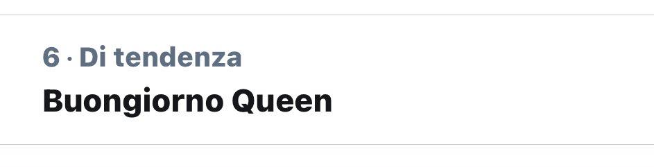 Buongiorno Queen