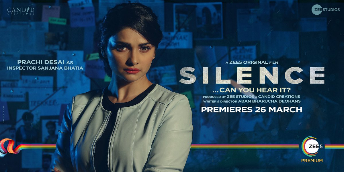 The meticulous Inspector Sanjana joins ACP Avinash on the most complex murder investigation yet. #SilenceCanYouHeartIt premieres 26th March on @ZEE5Premium
