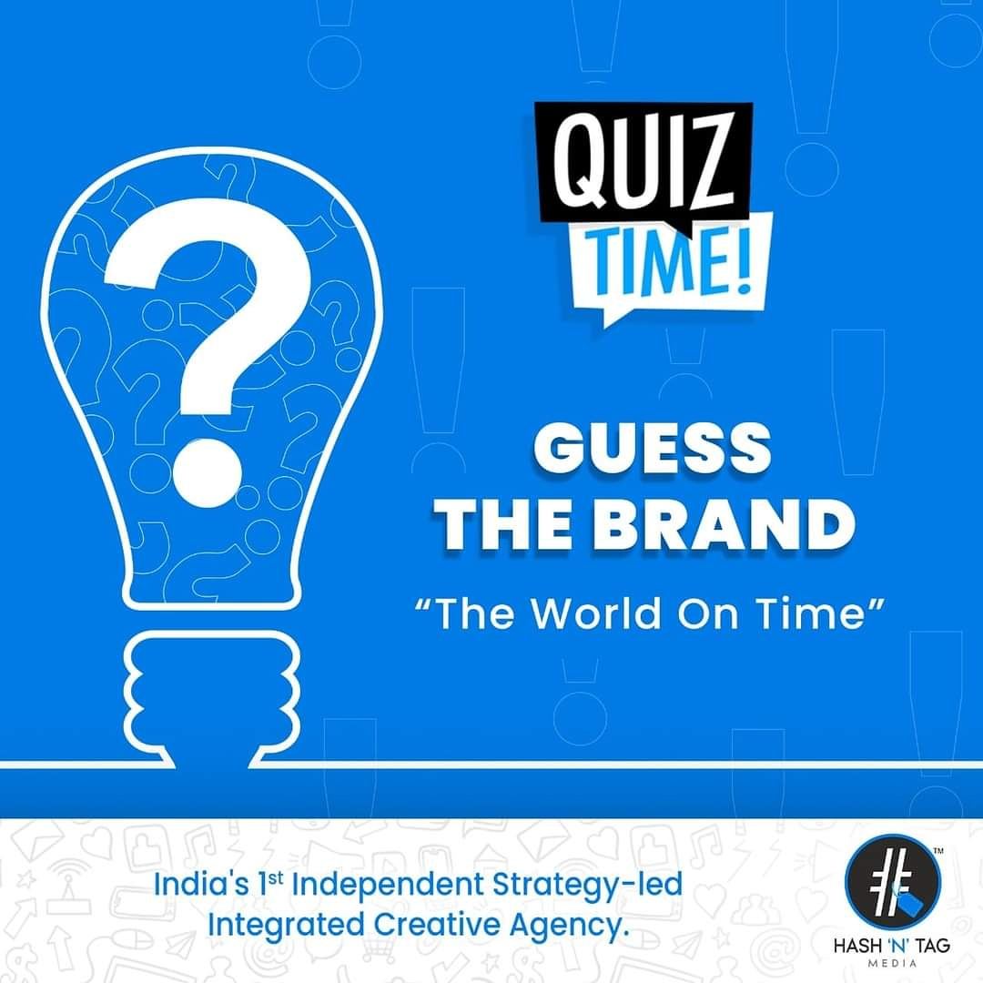 Guess The Brand? Hint: The World On Time. Tag your friend and share your answer in the comments section. . . . #GuessTheBrand #QuizTime #TeamHNTM #HashTagger #HashNTag #HashTaggers4Life #webdesign #logo #Trending #Motivation #SocialMediaTrends #Marketing #BrandBuilding