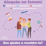 Image for the Tweet beginning: 💜Escape Room, Alaquàs en femení💜🙋♀️Vols