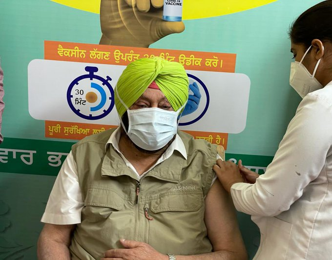 Coronavirus in Punjab: Punjab CM Captain Amarinder Singh on Friday took the first dose of the COVID-19 vaccine at a Civil hospital in Mohali.