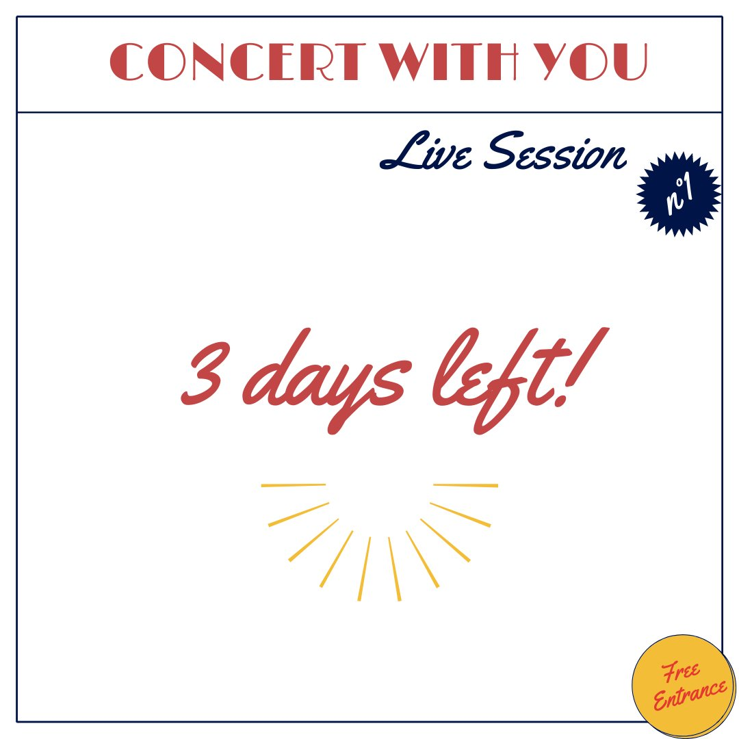 In 3 days, don't miss our superb online concert, a revisiting of great classics and a trip to Argentina to dance the tango! That's where it's happening :  Together we can help artists to blossom! #music #StreamingLive #SUPPORTUS #concerts #tango #Livestream