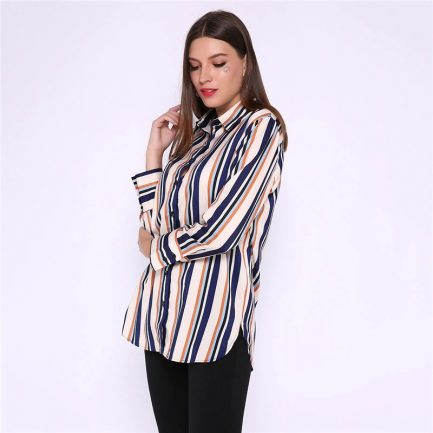Shop Stripes Long Sleeve Basic Oversize Tops @powerdaysale    #Blouses #Shirts #Tops #Oversize #Stripes #HighStreet #DailyCasual #likeforlike #twitterfashion
