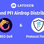 Image for the Tweet beginning: ORE and PFI airdrop distributions
