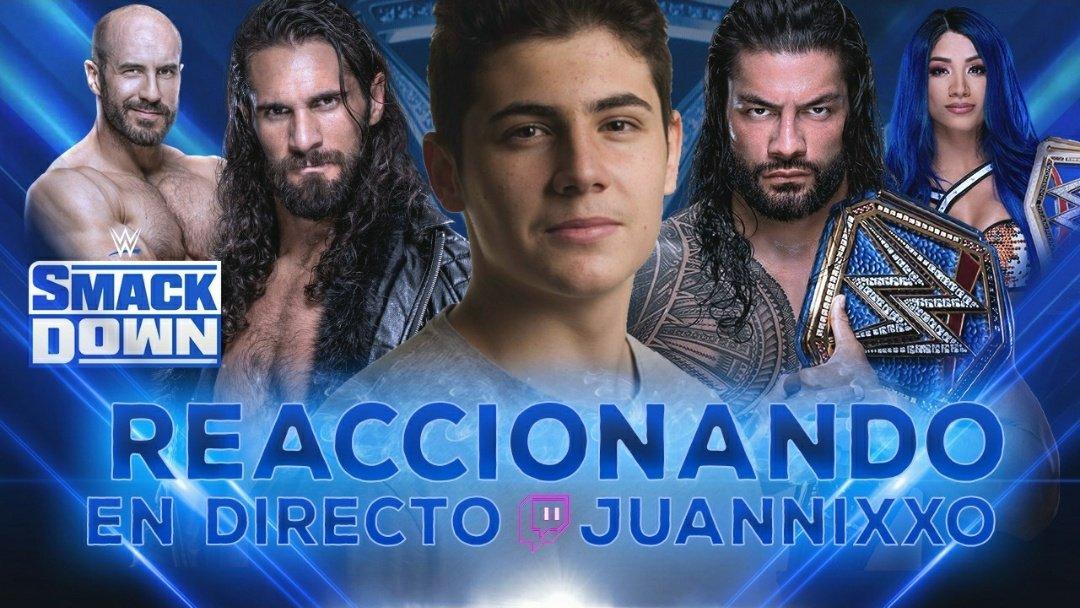💥 Esta noche estaré reaccionando en VIVO a #SmackDown 💥   (Tendréis el show en grande y mi cabeza en una esquina, para que podáis disfrutar del show de la marca azul al completo 🤪)  ¡¡ Os espero mis panas !! 💪🏼