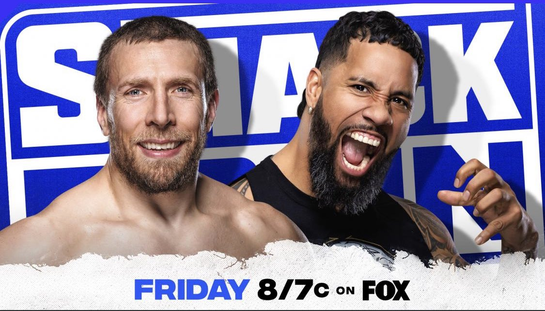 Tonight #SmackDown   Steel Cage Match @WWEDanielBryan v Jey (@WWEUsos)  If Bryan Wins He Faces @WWERomanReigns for the WWE Universal Championship at #WWEFastlane