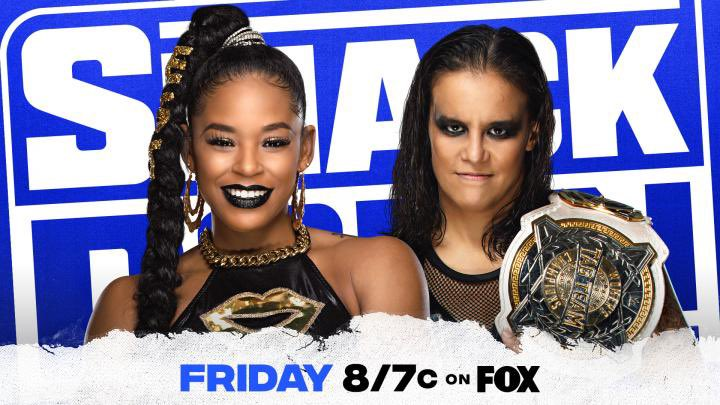 Bianca Belair vs. WWE Women's Tag Team Champion Shayna Baszler has been announced for tonight's episode of #SmackDown.  (via @WWE)
