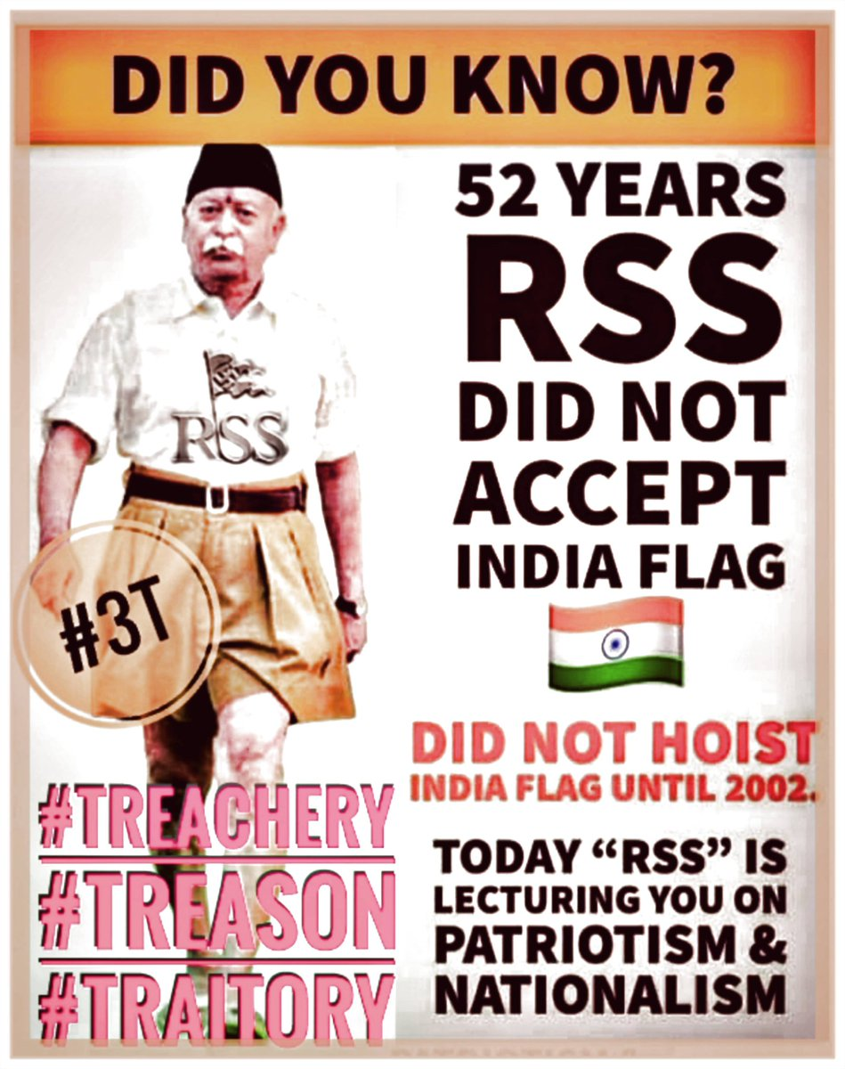 @RSSorg(#3T) #Treachery #Treason #Traitory Never considered themselves 2B Indians & embraced A #Fascist Mindset, Had #Gandhiji Killed due 2 His Democratic/Secular Path #Savarkar lived on British Alms till his death & their #Cashcow is @narendramodi @POTUS @VP @SecBlinken @CIA @AP