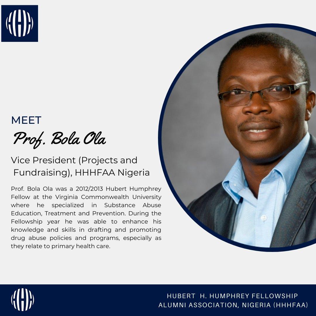 Meet Vice President (Projects and Fundraising), HHHFAA Nigeria Prof. Bola Ola.  #HumpreyAlumni #Humpreyprogram #Nigeria #UnitedNations  #UnitedStates #Humpreyfellows #mondaymotivation #MarchMotivation