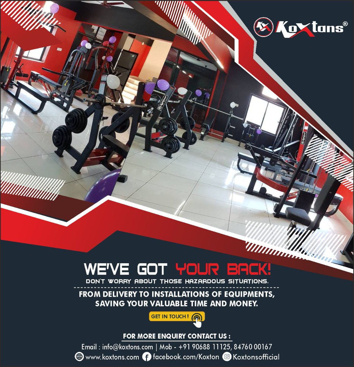 You may be clueless about starting your own Gym or just looking for some assurance. NOT TO WORRY! we are here to help you, from Delivery to Installation, saving your time and money. Koxtons Sports is absolutely your best choice!💪 Visit https://t.co/lMNXHnQaNt or DM on 9068811125 https://t.co/QycMaFIy1y