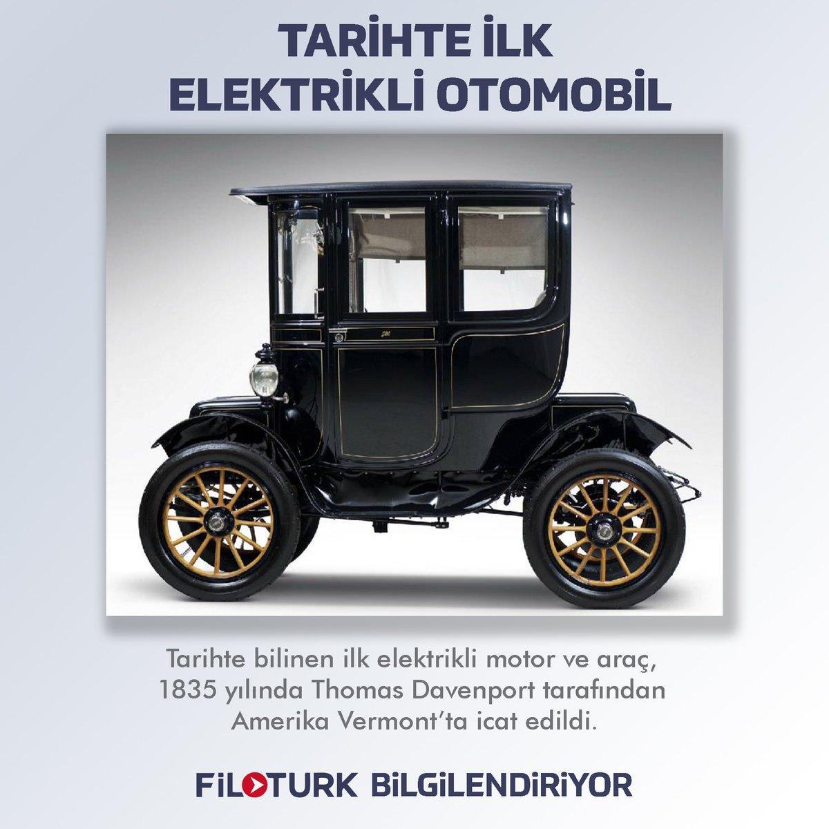 #FilotürkBilgilendiriyor Tarihte bilinen ilk elektrikli motor ve araç, 1835 yılında Thomas Davenport tarafından icat  edilmiştir. 🚛📣🚛 💻  ☎ +90 (342) 337 16 16 📩 info@filoturk.net ▫ #Filotürk #Rental #Treyler #Filotürknet #Filo #Rent