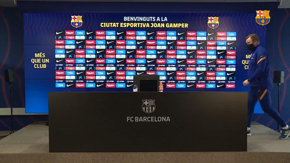 ⚡️LIVE NOW! ⚡️ @RonaldKoeman press conference ahead of #OsasunaBarça 💪🟦🟥  🖥 Watch now on Barça TV+: