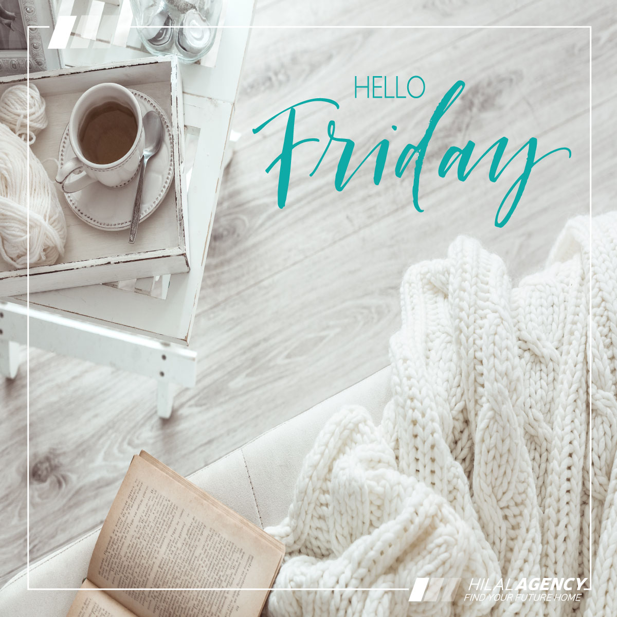 It's the weekend. Enjoy it 😃  #Weekend #GoodVibes #hilalagency #listings #realestate #advertising #agents #sellers #brokers #developers #buyers #sale #rent #investment #construction #project #building #apartment #house
