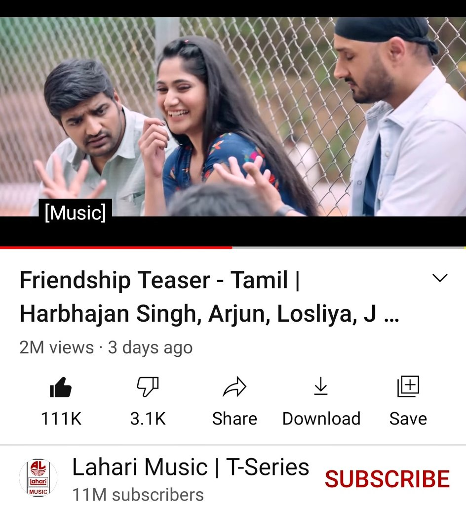 2 million views 111k likes #friendshipmovieteaser Never judge  you never know what kind of battle they are fighting #Losliya #Friendshipmovie