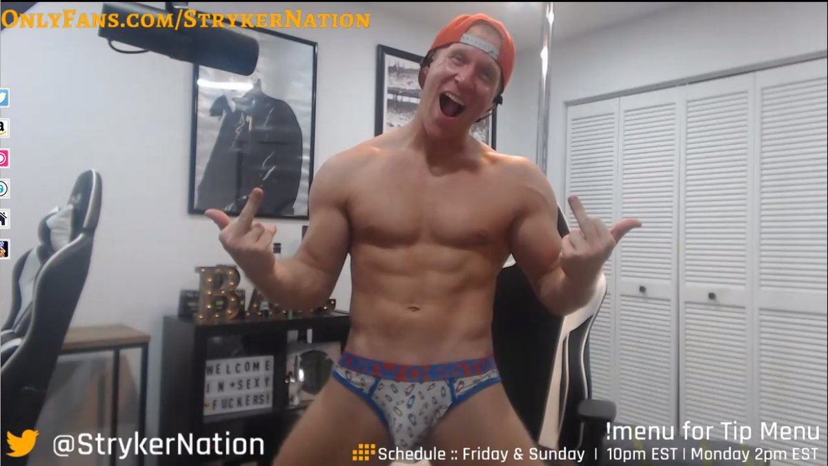 """""""Gary, you son of a bitch"""" hahaha it was @AUTigerStud and @rongo1725 getting the finger this time.  I was a good boy and didn't give the sexy fucker any beans! #tongueouttuesday #sexycowboy #favcammodel #sexyfucker #TuesdayMotivations  @StrykerNation"""