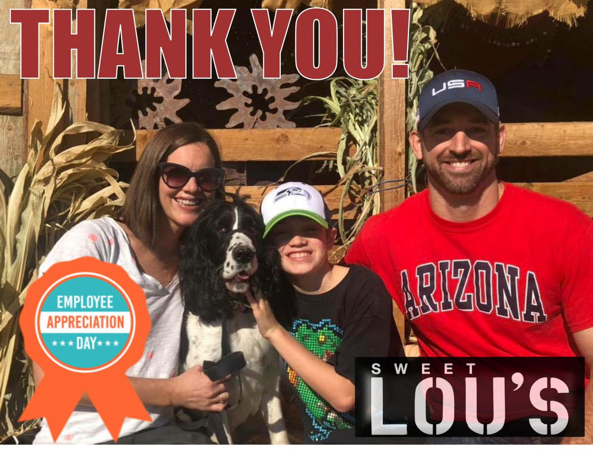 We'd like to take today to acknowledge the amazing people who work for us! We are truly grateful for each and avery one of you. Thank you for being part of our family!  -Chad, Meggie, Lou & Zoe  #employeeappreciationday  #amazingstaff  #gratefulforyou