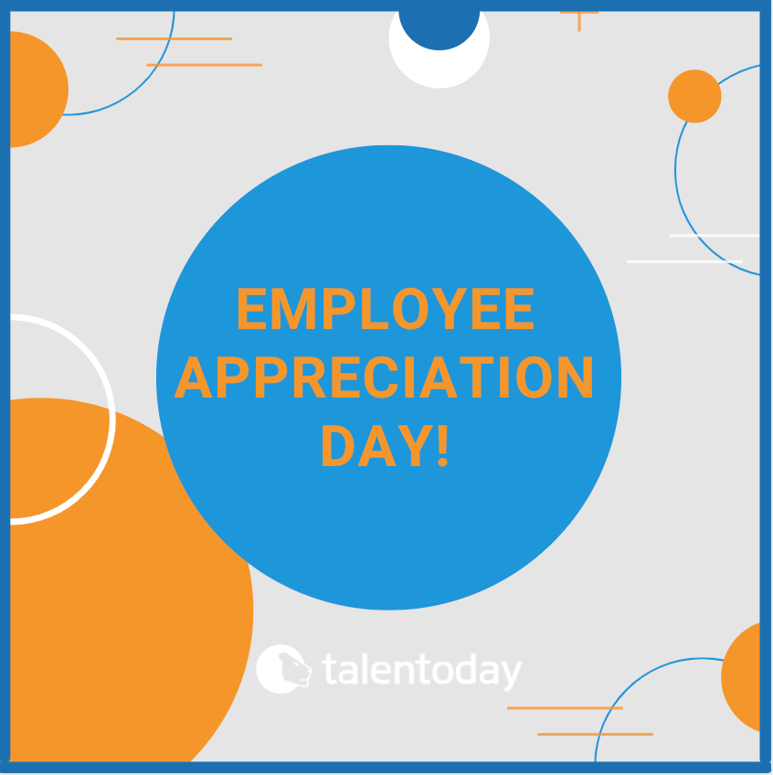 It's #EmployeeAppreciationDay! We are so thankful for everything our Talentoday team does every day. DYK that research shows that appreciation isn't one size fits all? Consider celebrating some teammates in a public way today, while sharing 1-on-1 encouragement with others.