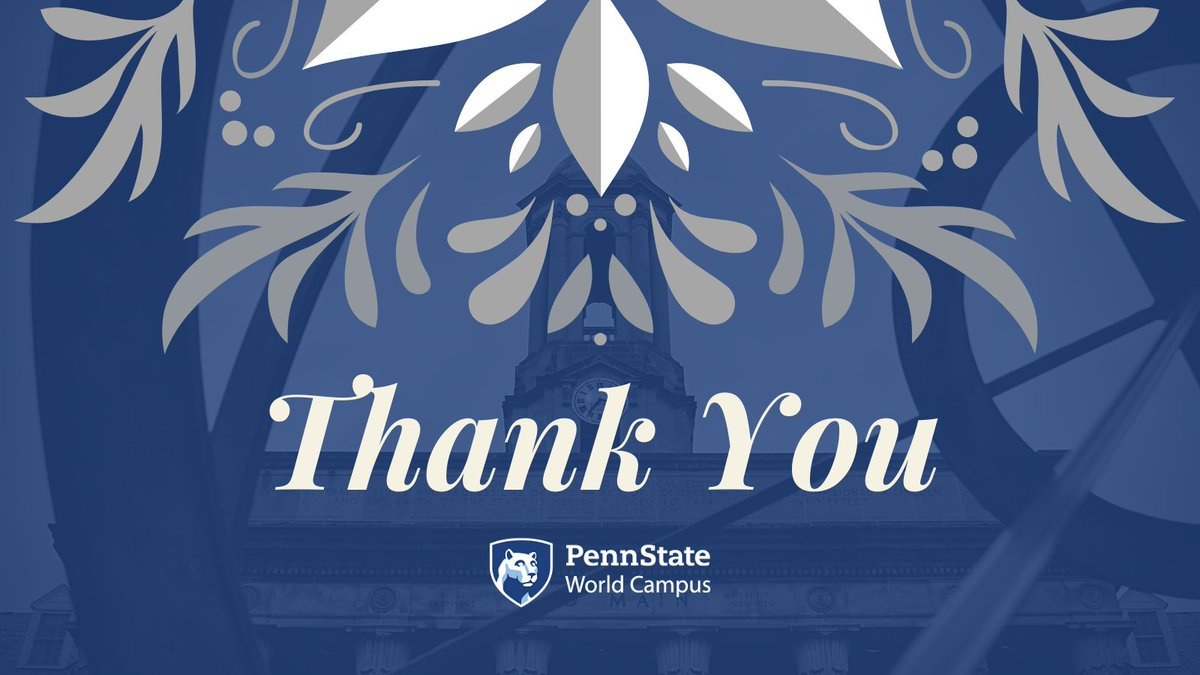 Shout out to our amazing faculty and staff on #EmployeeAppreciationDay!  #WeAre proud of the role our employees play in supporting the success of our #PennStateWorldCampus students, and we appreciate all that they do. 💙🤍👏