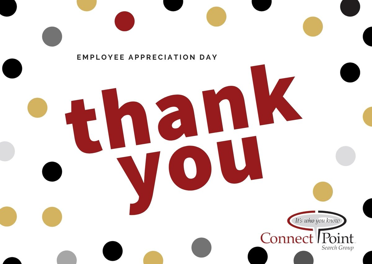 How will you recognize your employees on this #EmployeeAppreciationDay? Here are a few ideas: 1. Highlight an #employee on social media 2. Give out gift cards 3. Introduce an employee recognition program 4. Send thank you notes 5. Offer an extended break or day off   #cpsg #hire