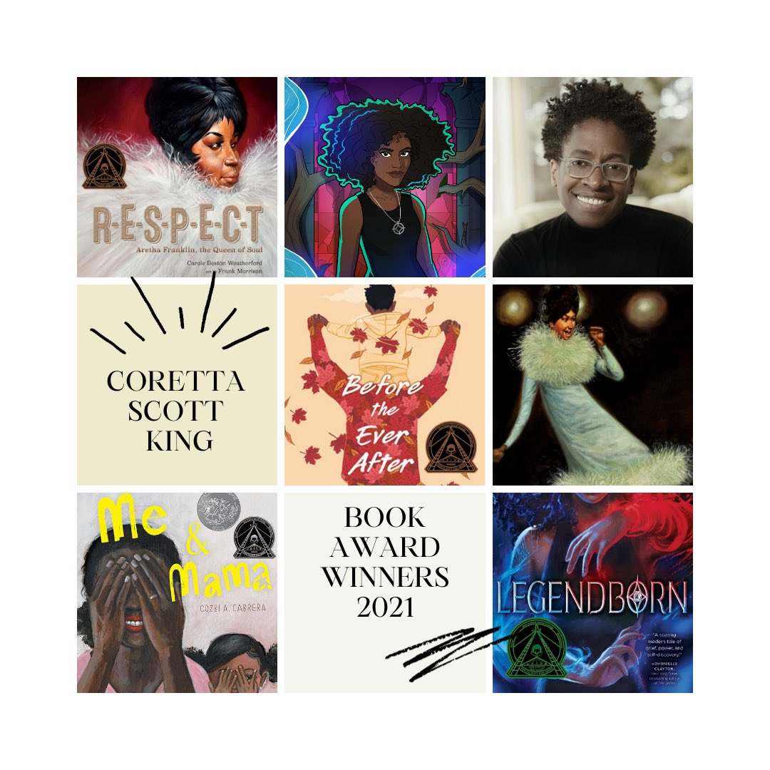 Coretta Scott King Awards 2021 📚We encourage students to read material that supports conversation about race, racism, and resilience. These stories affirm students from Black and Brown communities and empower youth from all backgrounds. Representation matters!  #CorettaScottKing