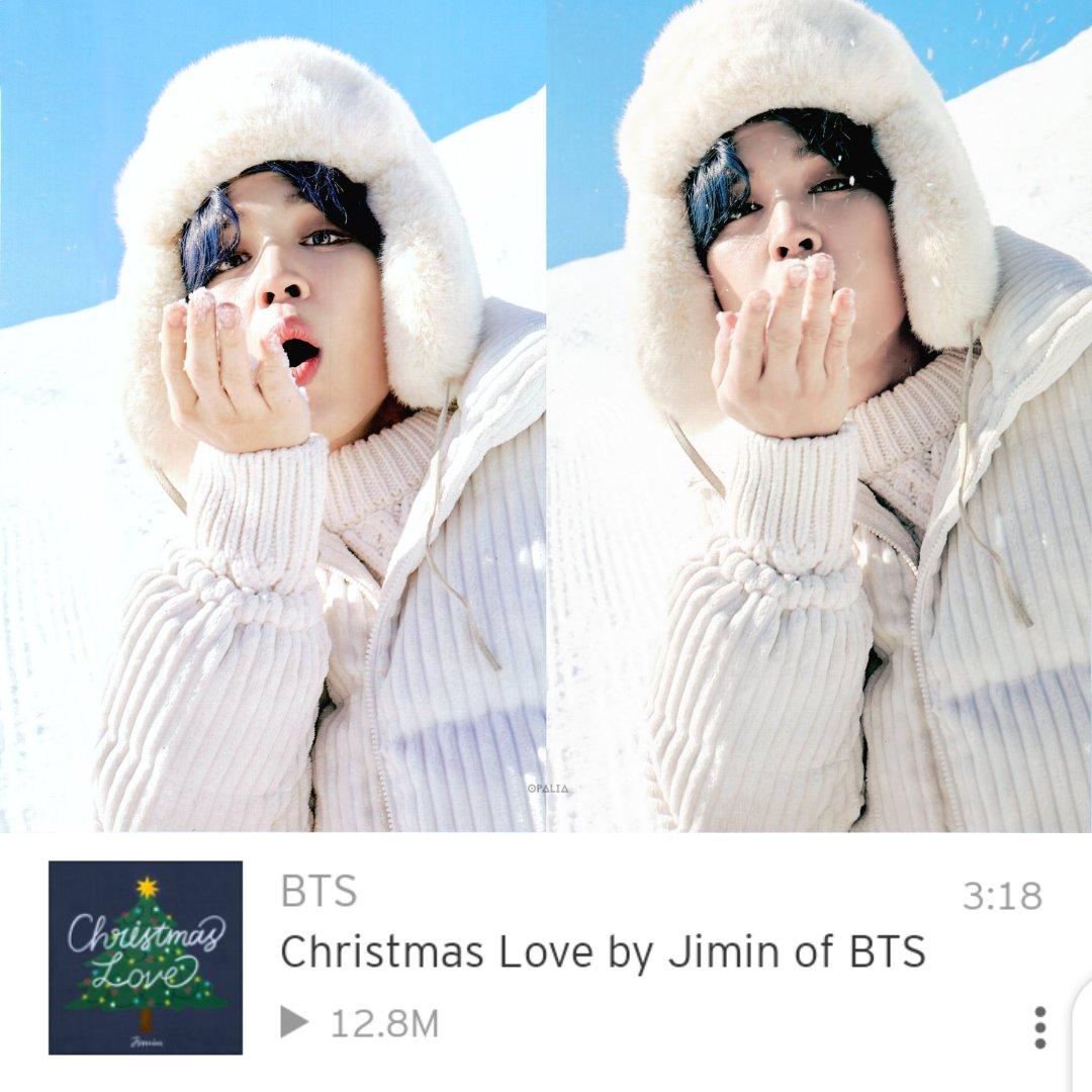 Christmas Love is 200k streams away from 13M!  Let's stream and get it there! 🔹  #방탄소년단지민 #JIMIN #지민 #PARKJIMIN #ジミン @BTS_twt