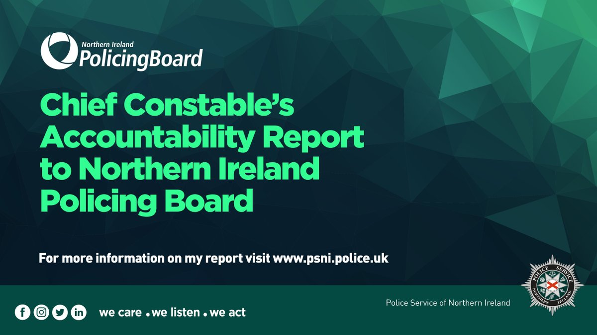 You can view yesterday's @NIPolicingBoard meeting to hear my full report https://t.co/vgDpAHvFxd  #WeCareWeListenWeAct https://t.co/IxSYUHiizL
